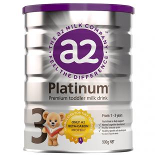 A2 Platinum 白金系列婴幼儿配方奶粉3段900g 1-3岁